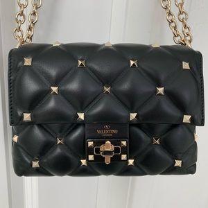 Valentino Candystud Black Small Crossbody Bag